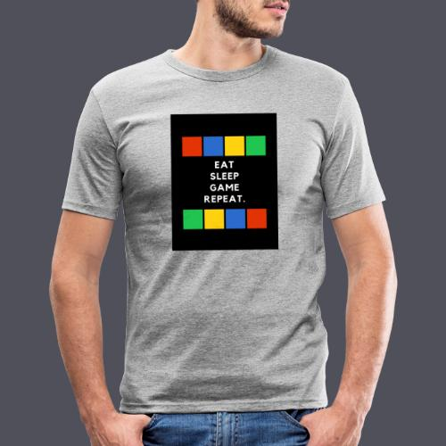 Eat, Sleep, Game, Repeat T-shirt - Men's Slim Fit T-Shirt