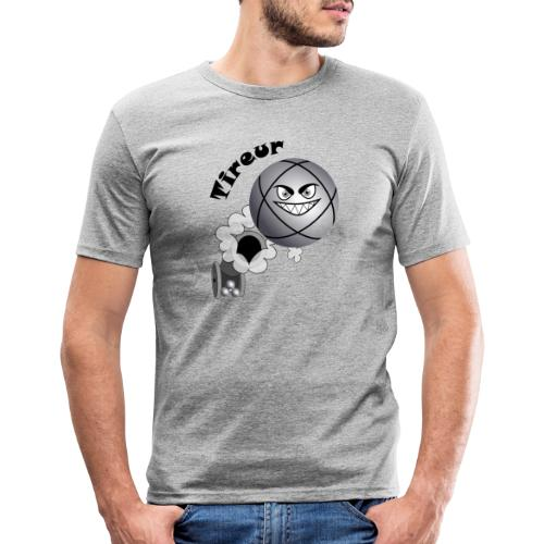 t shirt pétanque tireur boule existe en pointeur N - T-shirt près du corps Homme