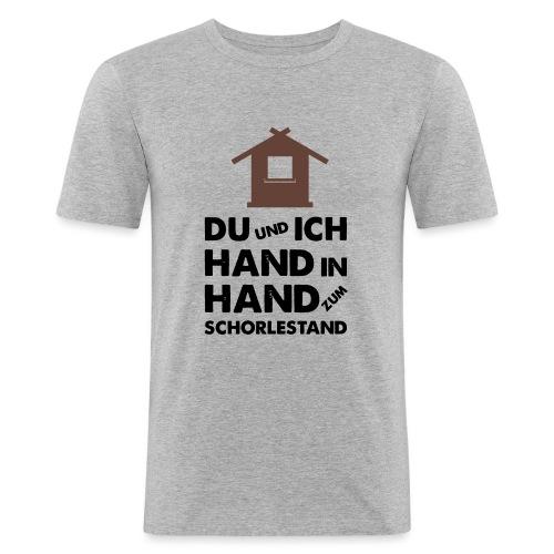 Hand in Hand zum Schorlestand / Gruppenshirt - Männer Slim Fit T-Shirt