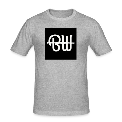 BW simple logo - Mannen slim fit T-shirt