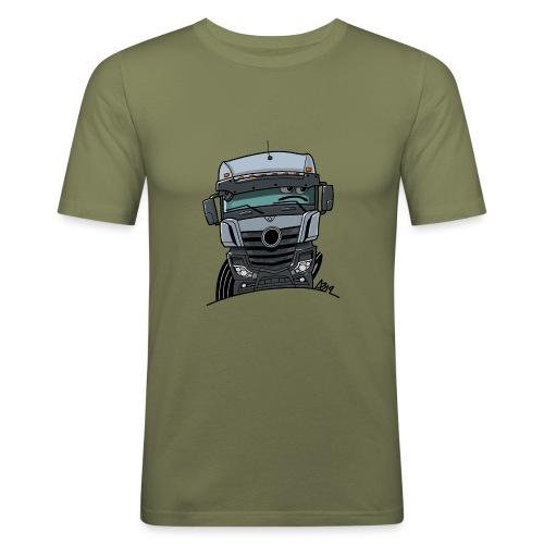 0807 M Truck grijs - slim fit T-shirt