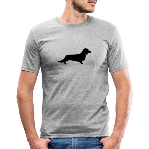Langhaardackel - Männer Slim Fit T-Shirt