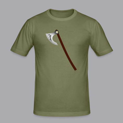 Wikinger Beil - Männer Slim Fit T-Shirt