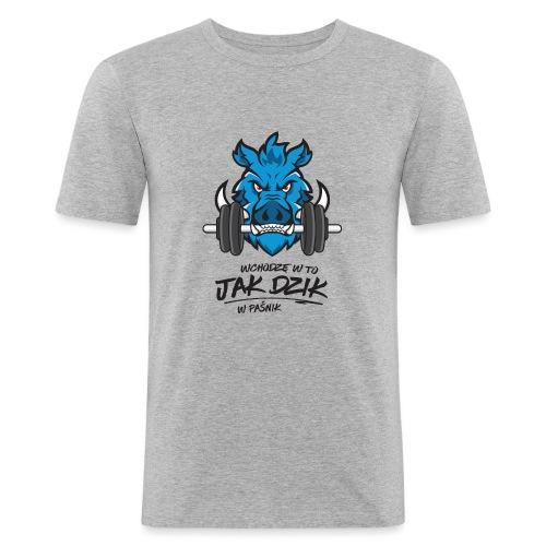 WCHODZĘ W TO JAK DZIK W PAŚNIK - Obcisła koszulka męska