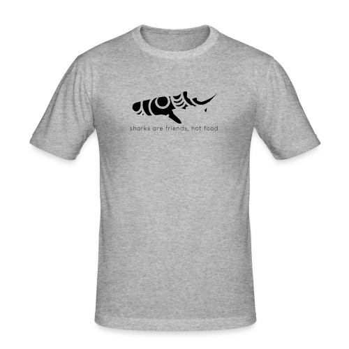 Sharks are friends - Men's Slim Fit T-Shirt
