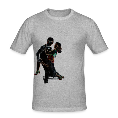 It Takes Two - Neon Tango Couple - Men's Slim Fit T-Shirt