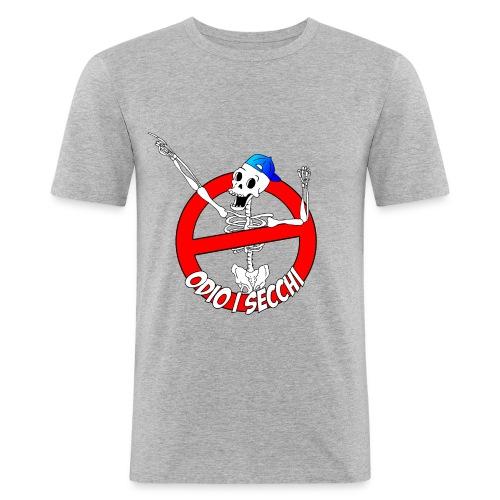 ODIOISECCHILOGO - Maglietta aderente da uomo