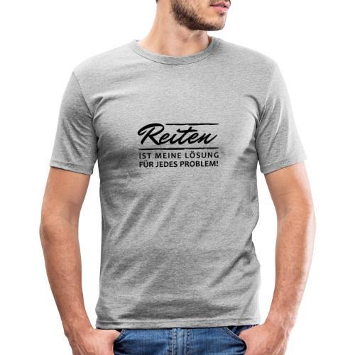 T-Shirt Spruch Reiten Lös - Männer Slim Fit T-Shirt