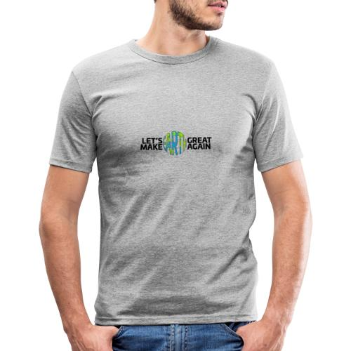 Let's Make Earth Great Again Banner - Slim Fit T-shirt herr