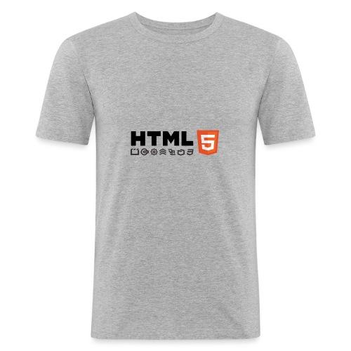 Html 5 - T-shirt près du corps Homme