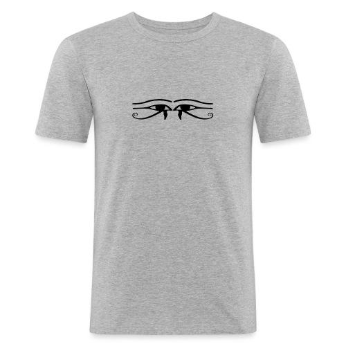 ojos - Camiseta ajustada hombre