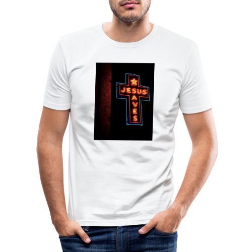 Jesus Saves - Men's Slim Fit T-Shirt