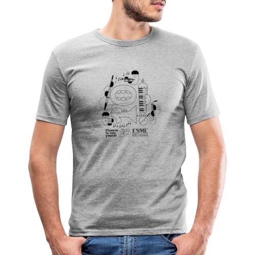 ESME Anniversary Design Schwartz - Männer Slim Fit T-Shirt