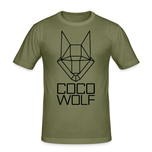 COCO WOLF - Männer Slim Fit T-Shirt
