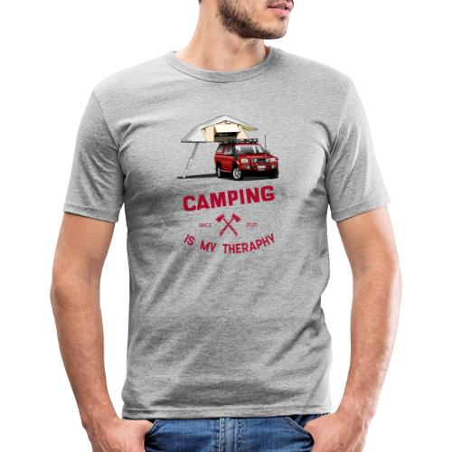 Camping is my Theraphy Dachzelt - Männer Slim Fit T-Shirt