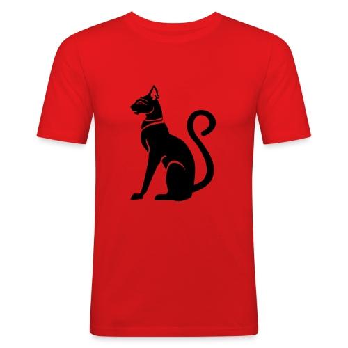 Bastet - Katzengöttin im alten Ägypten - Männer Slim Fit T-Shirt