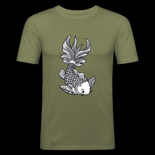 Pesce Tattoo Flash - Maglietta aderente da uomo