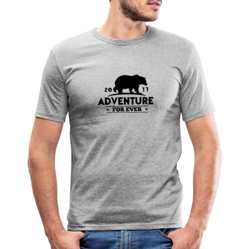 ADVENTURE FOR EVER - GRIZZLY - Maglietta aderente da uomo