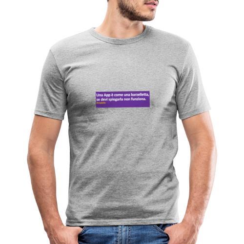 barzelletta - Maglietta aderente da uomo