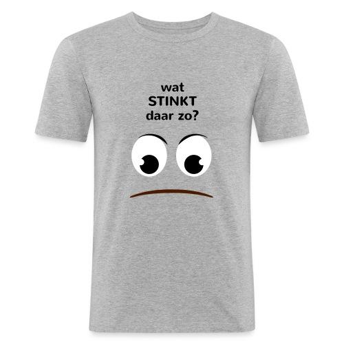 Grappige Rompertjes: Wat stinkt daar zo - slim fit T-shirt
