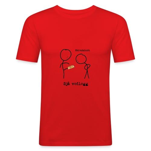 svart vedlegg png - Slim Fit T-skjorte for menn