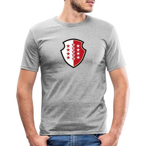 Bouclier Valaisan - T-shirt près du corps Homme