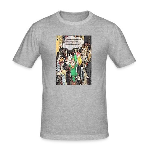 The Greatest Trick The Trad Player Ever Pulled - Men's Slim Fit T-Shirt
