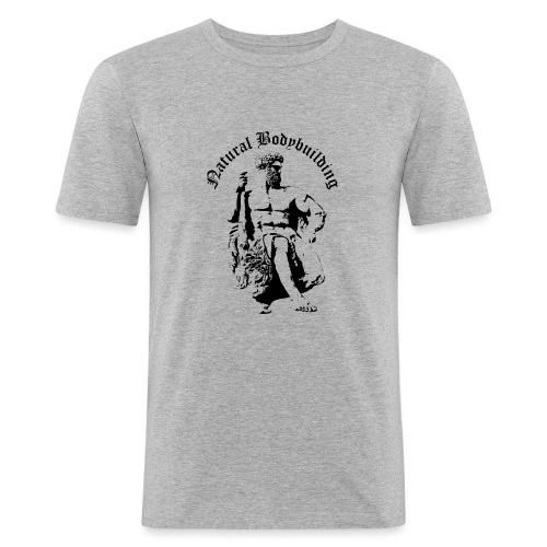 natural bodybulding - Obcisła koszulka męska