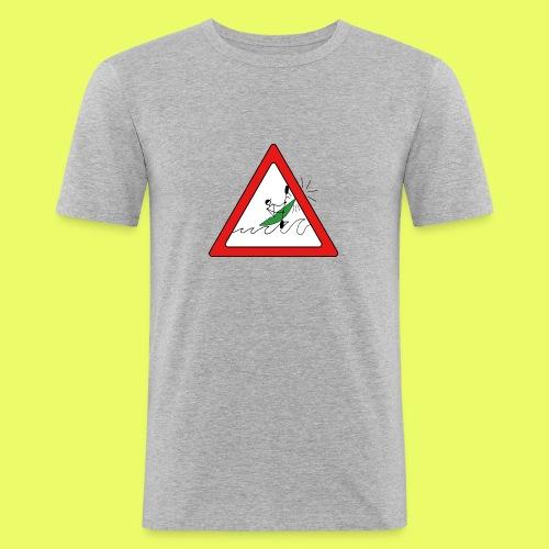 Kajak Unfall im Dreieck - Männer Slim Fit T-Shirt