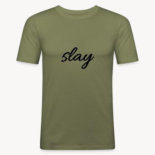 SLAY - Miesten tyköistuva t-paita