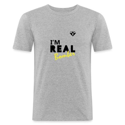 REAL Bomber - Maglietta aderente da uomo