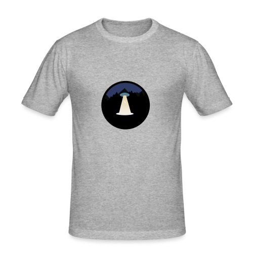 UFO beaming up a deer - Mannen slim fit T-shirt