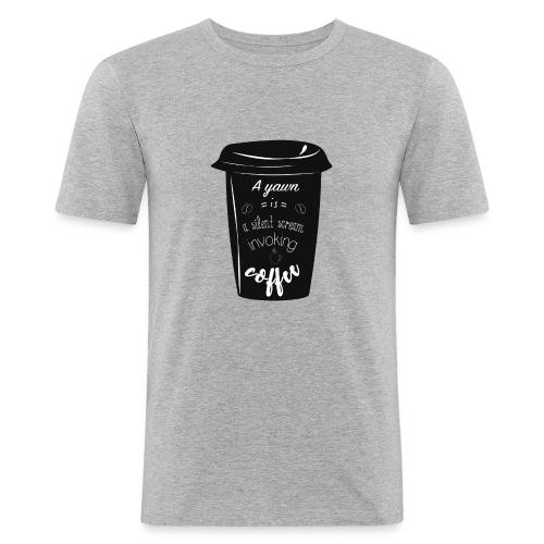 Coffee - Maglietta aderente da uomo