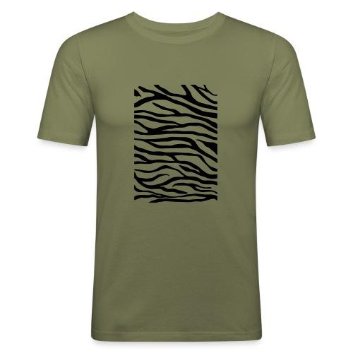 zebra v6 - Mannen slim fit T-shirt