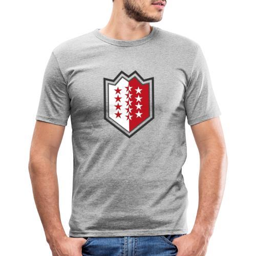 Bouclier moderne du Valais - Männer Slim Fit T-Shirt