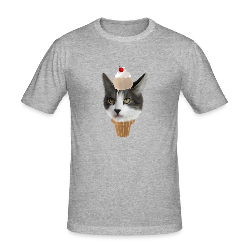 Ice Cream Cat - Männer Slim Fit T-Shirt