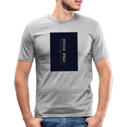 Utah hills - Herre Slim Fit T-Shirt