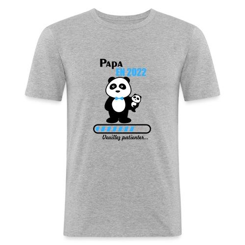 Papa en 2022 - Men's Slim Fit T-Shirt