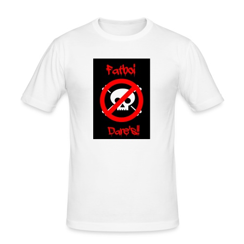 Fatboi Dares's logo - Men's Slim Fit T-Shirt