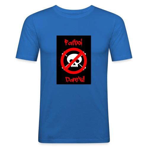 Fatboi Dares's logo - Men's Slim Fit T-Shirt