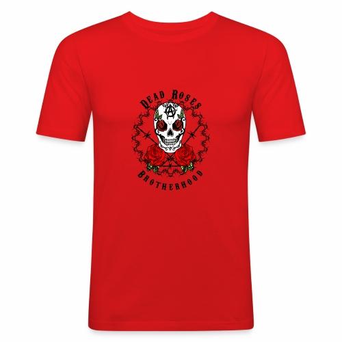 Dead Roses 2nd Logo - Men's Slim Fit T-Shirt