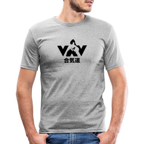 aikido zwart - Mannen slim fit T-shirt