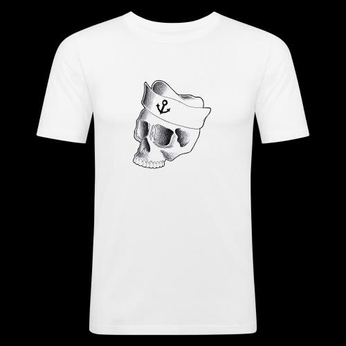 Teschio Marinaio - Maglietta aderente da uomo