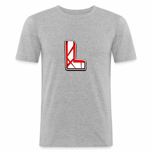 Leon Schmidt LOGO - Men's Slim Fit T-Shirt