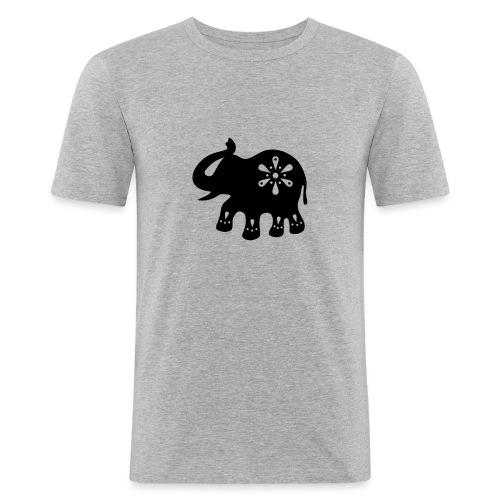 Indischer ELEFANT - Männer Slim Fit T-Shirt