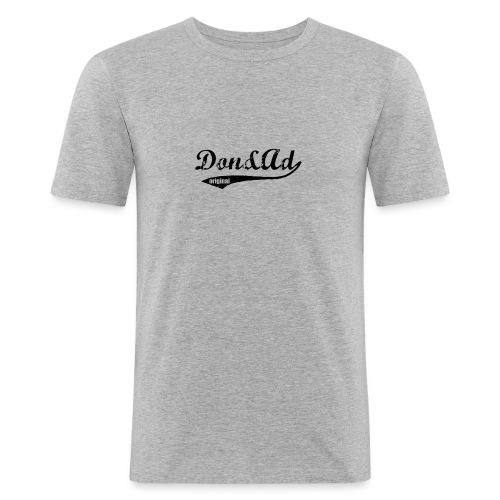 donenad txtlogo gr - Mannen slim fit T-shirt