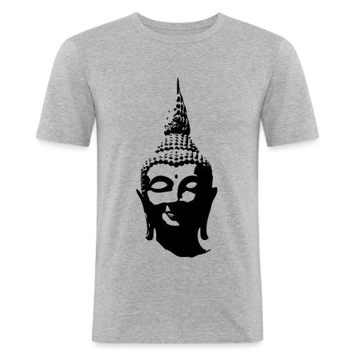 Boeddha hoofd - Mannen slim fit T-shirt