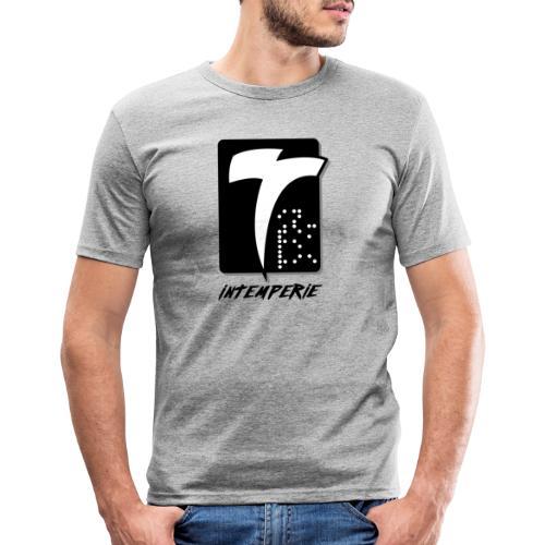 intemperie logo final fondo blanco - Camiseta ajustada hombre