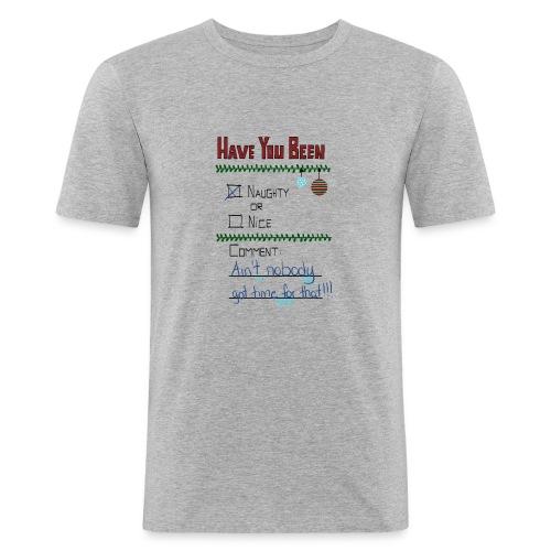 The Naugthy or Nice List - Herre Slim Fit T-Shirt