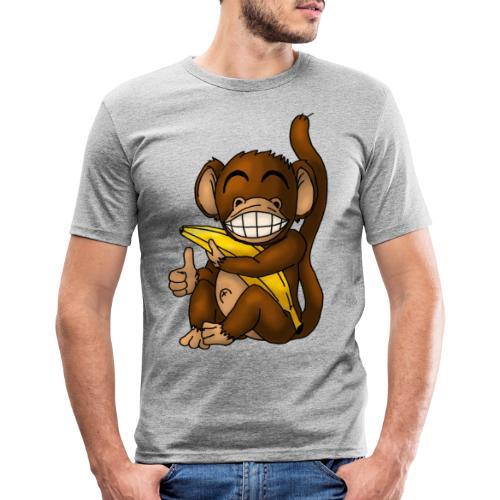 Super Fröhlicher Affe - Männer Slim Fit T-Shirt